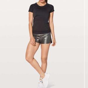 Lululemon 2.5 hi-rise foil speed up shorts